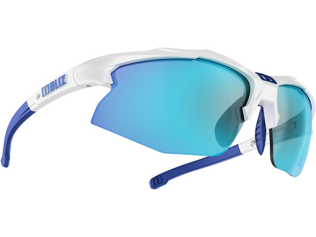 Bliz Hybrid M12 Smallface Glasses white/smoke with blue multi